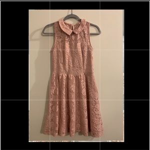 Small Rose Colored Lace Dress - worn 2 times